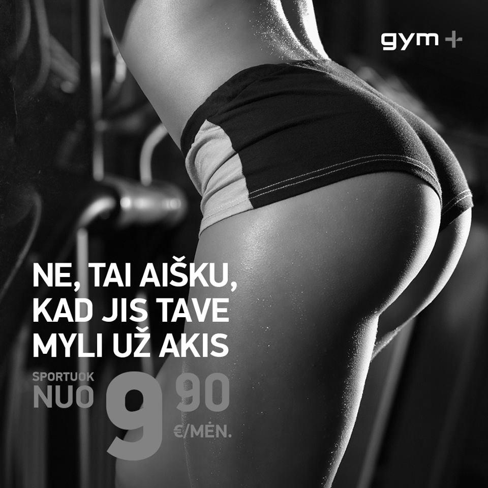 Gym plius reklama 1 BW